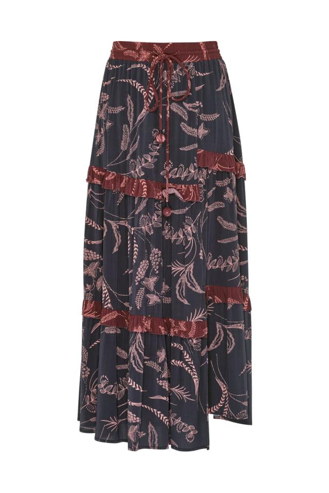 LS1669 Senorita Skirt Graphite Multi FR-1