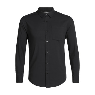Mens Steveston LS Flannel Shirt - Black - RRP_ $199.99