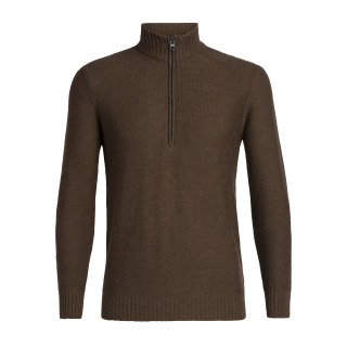 Mens Waypoint LS Half Zip - Brown- RRP_ $239.99.