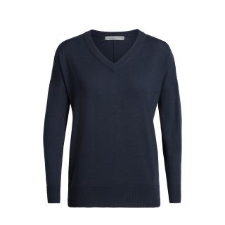 Womens Shearer V Sweater - Navy - RRP_ $179.99