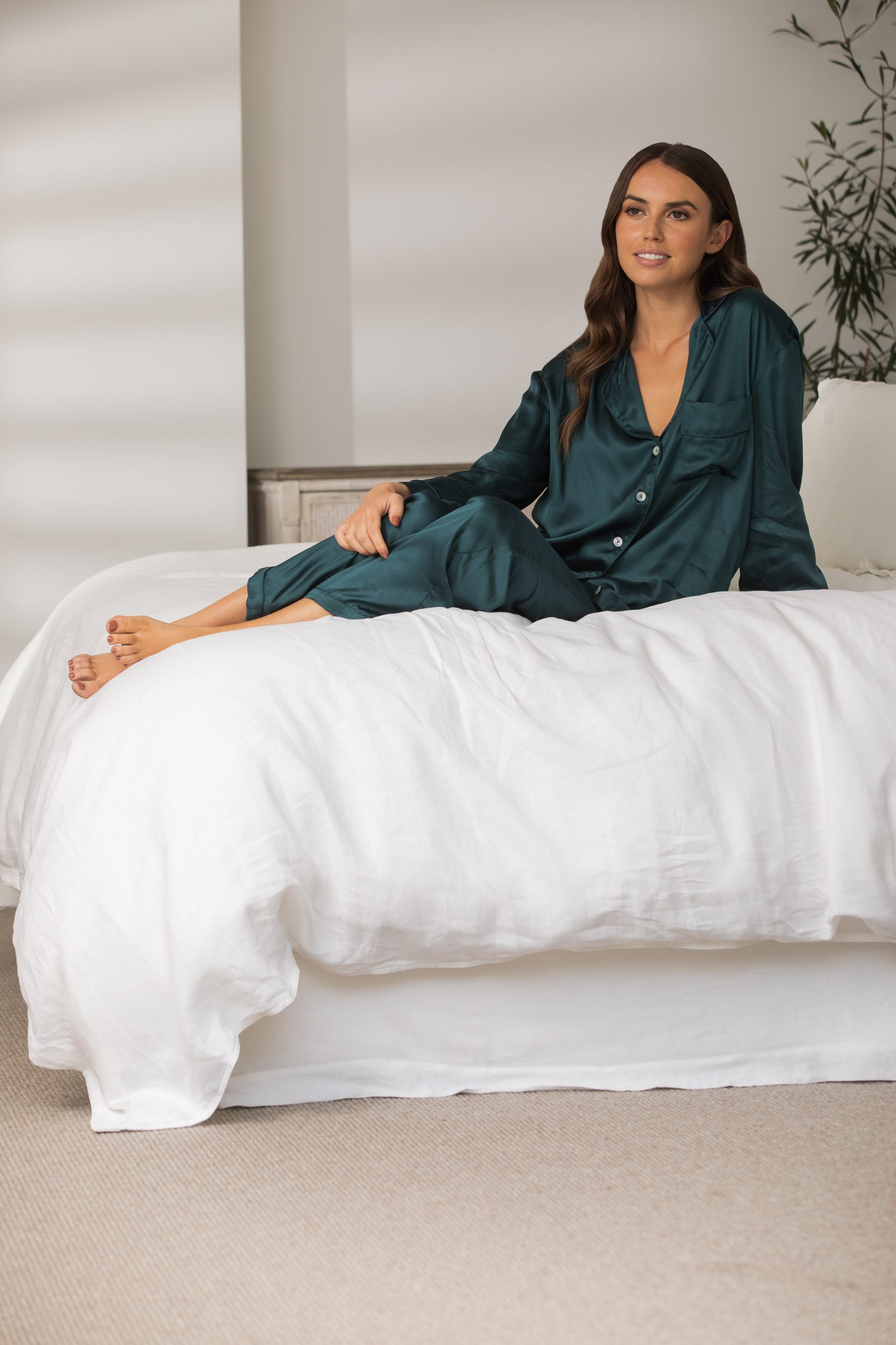 Wallace Cotton Mother of Pearl PJ Shirt $79.90 PJ Pants 6 $79.90