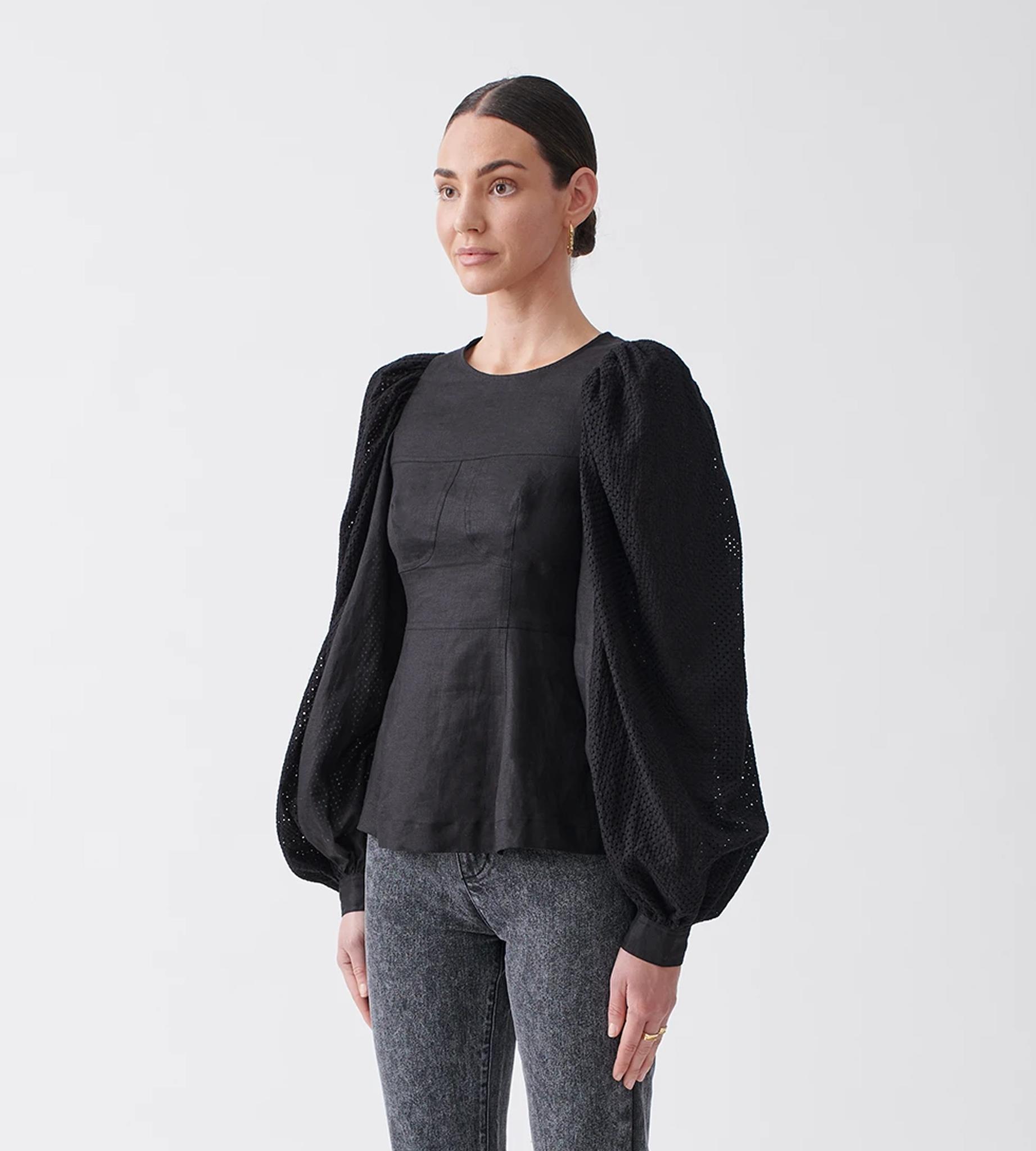 Joslin-Reagan-Linen-Crochet-Top-Black-1