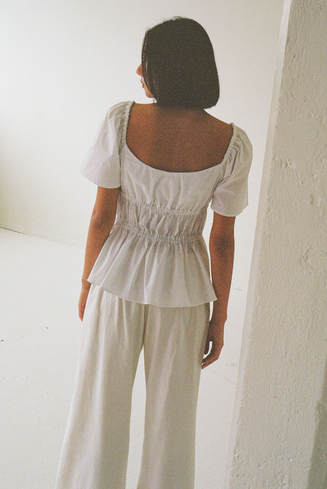 Bodice top white - New Ellis Label - Womens clothing - Made to order NZ_0005_83110019