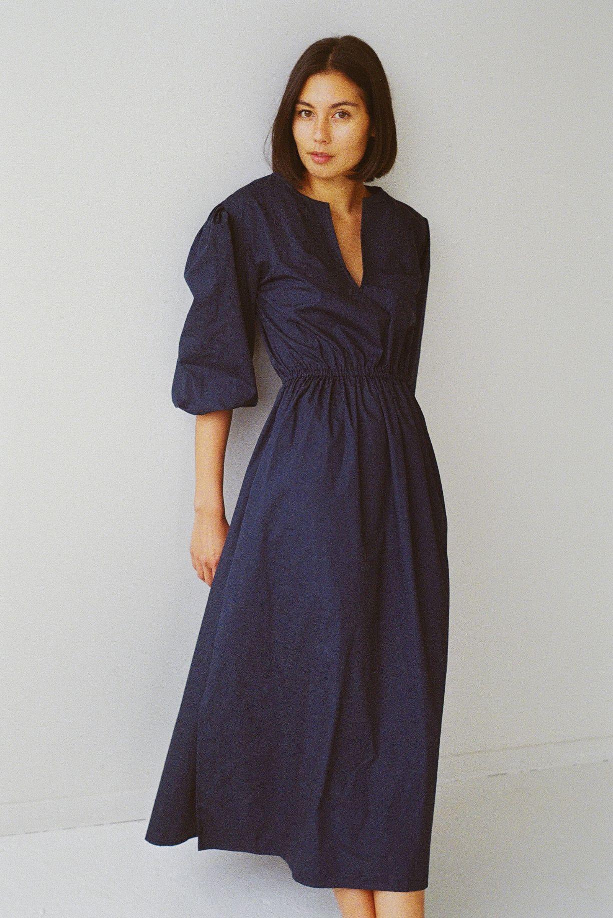 Klein maxi dress navy cotton - Ellis Label - New Zealand womens designer clothing_0004_83070004