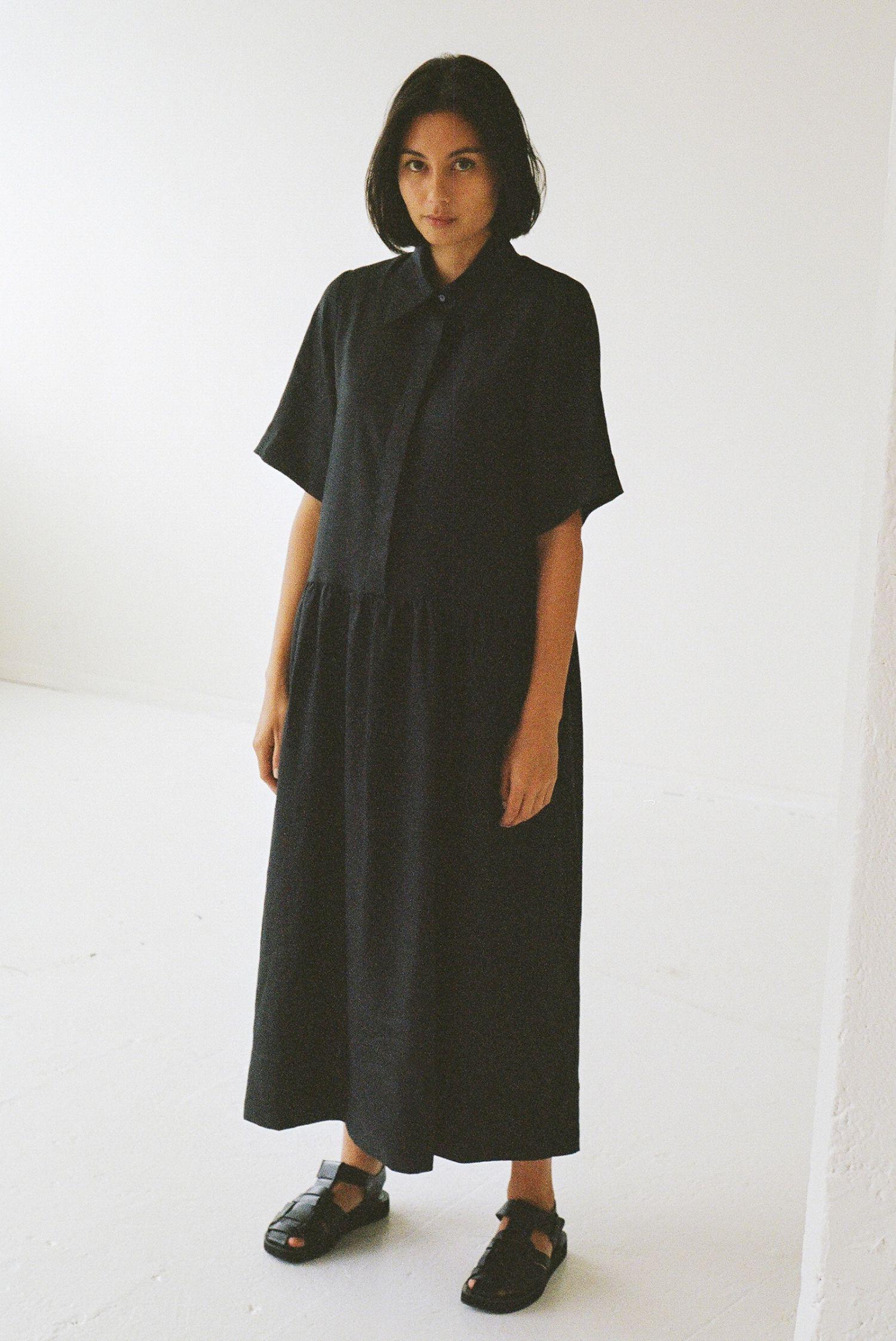 Mes deux midi dress linen - Ellis Label - Made to order womenswear - New Zealand_0020_83110028