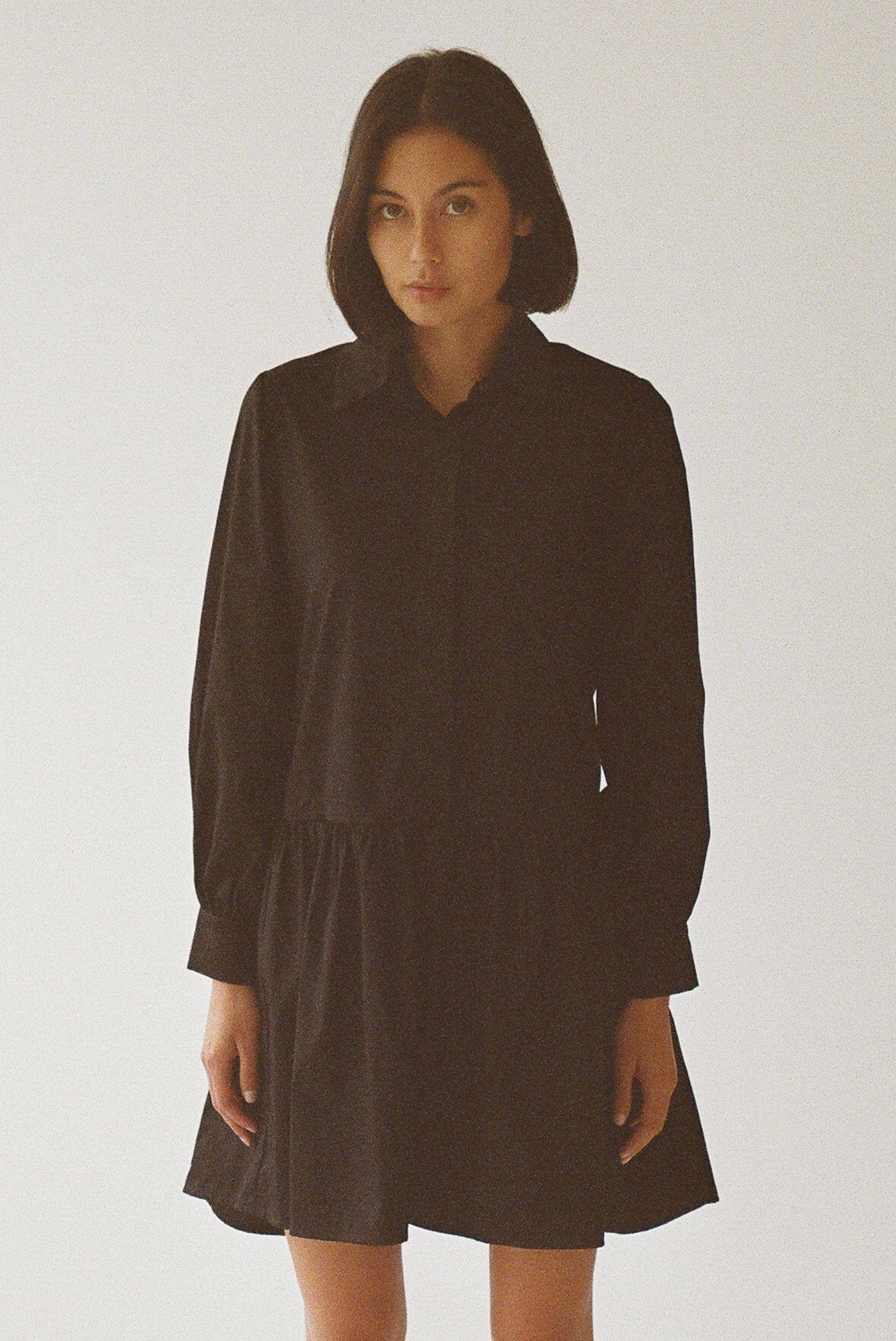 Mes dress black - Ellis Label - Signature shirt dress - Made to order_0011_83070022