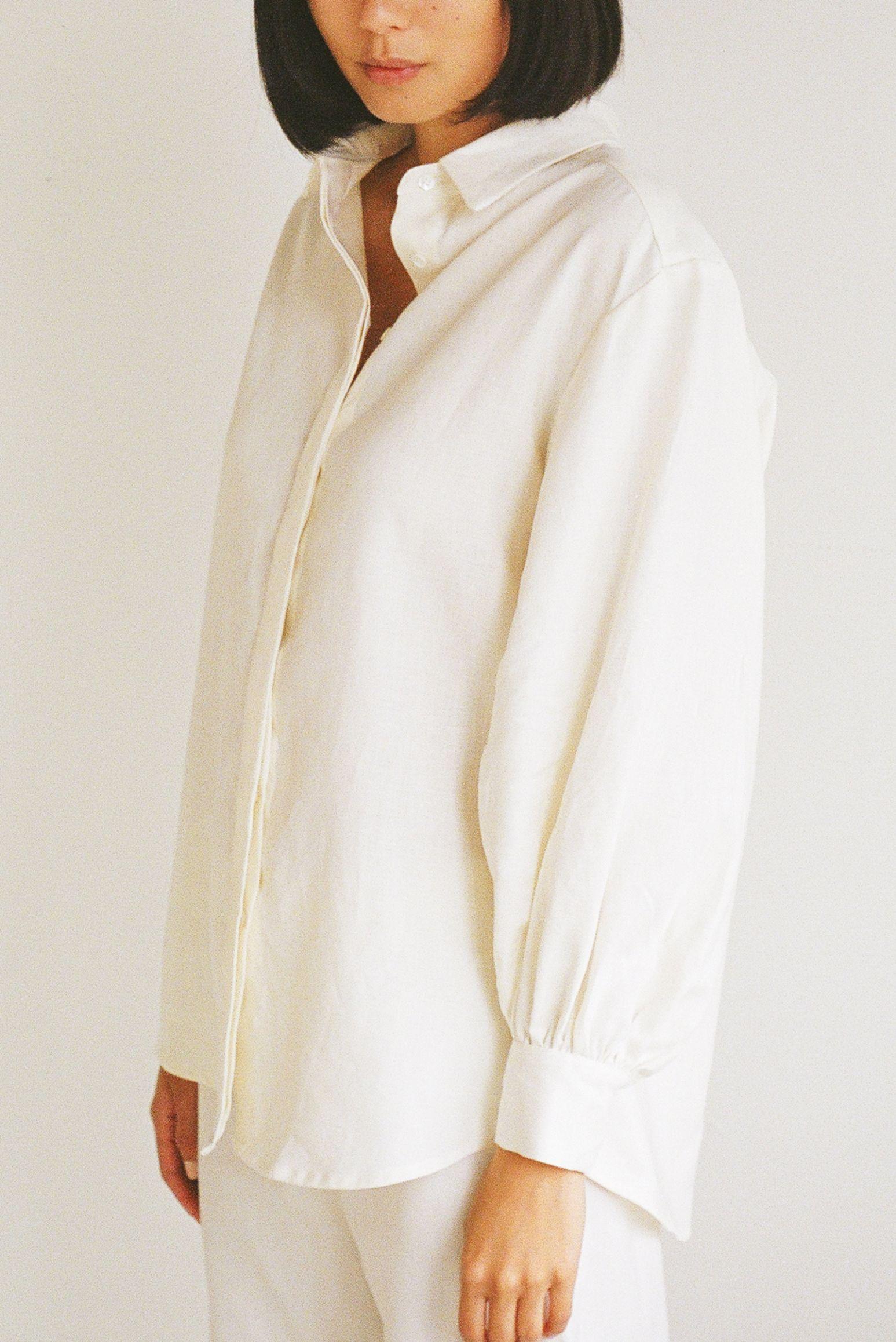 Mes shirt Ivory - Ellis Label - Linen - New Zealand clothing_0029_83090017