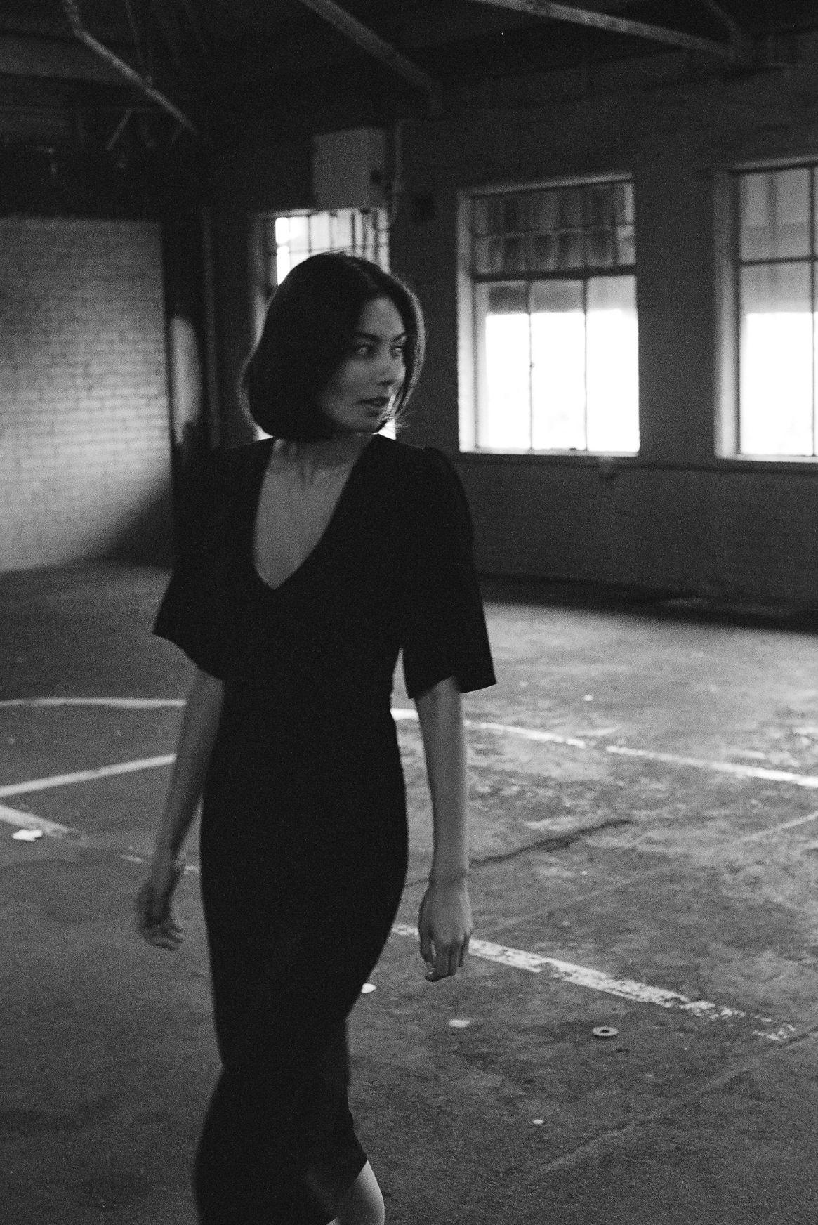Paloma deux dress - Black silk - Ellis Label - Womens designer clothing_0050_83110004-2