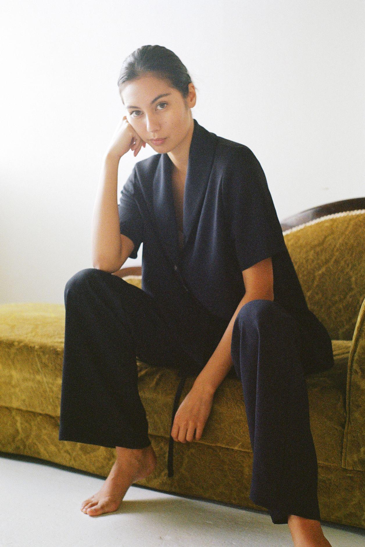 Short sleeve shirt navy - Ellis Label - New Zealand womens clothing design_0050_83080005